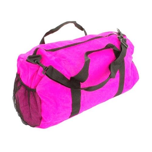 Mala Dobrável Colors - com Alças - Rosa em Nylon - 50x30 cm