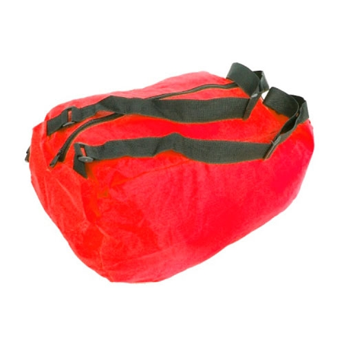 Mala Dobrável Colors Pequena - com Alça - Vermelha em Nylon - 50x32 cm
