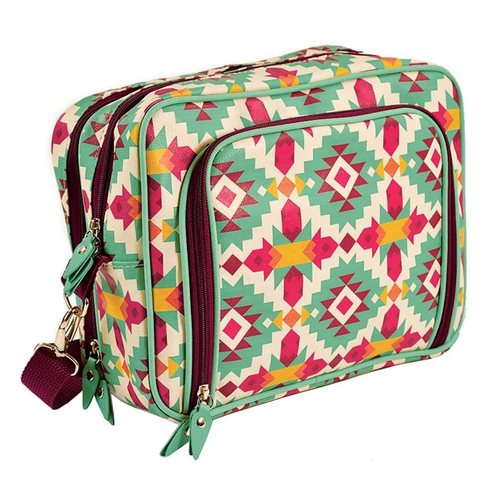 Mala Fullbag Frida - Carpe Diem - Colorida em Couro Sintético - 30x24 cm