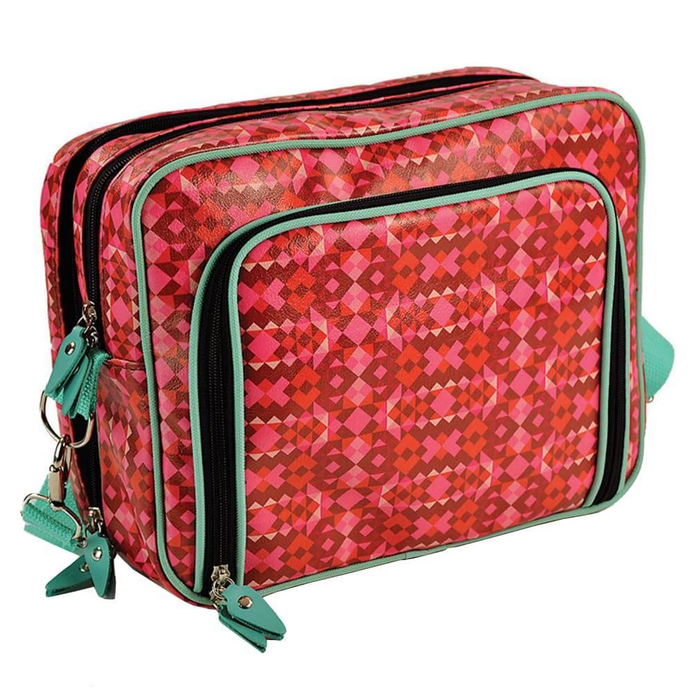 Mala Fullbag Matrioska - Carpe Diem - Vermelha em Couro Sintético - 30x24 cm