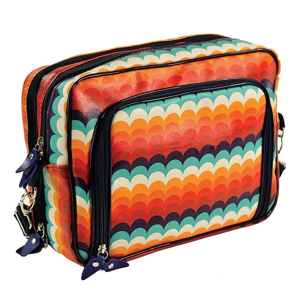 Mala Fullbag Make Love - Carpe Diem - Colorida em Couro Sintético - 30x24 cm