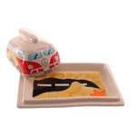 Manteigueira Kombi em Cerâmica - 20x14 cm