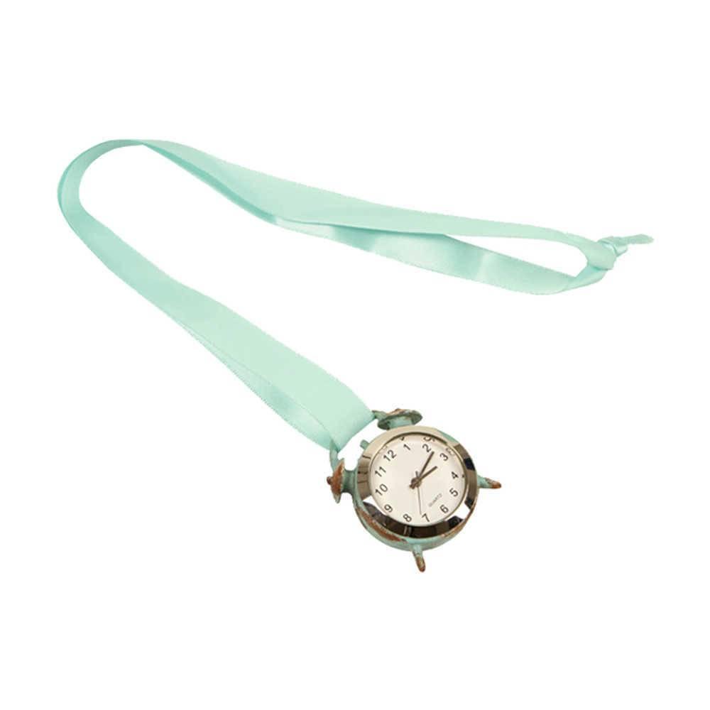 Marcador de Página Horloge Fita Verde com Relógio - 34x4 cm