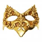 Máscara Cênica Castello Dourada de Parede em Papel Machê - 20x12 cm