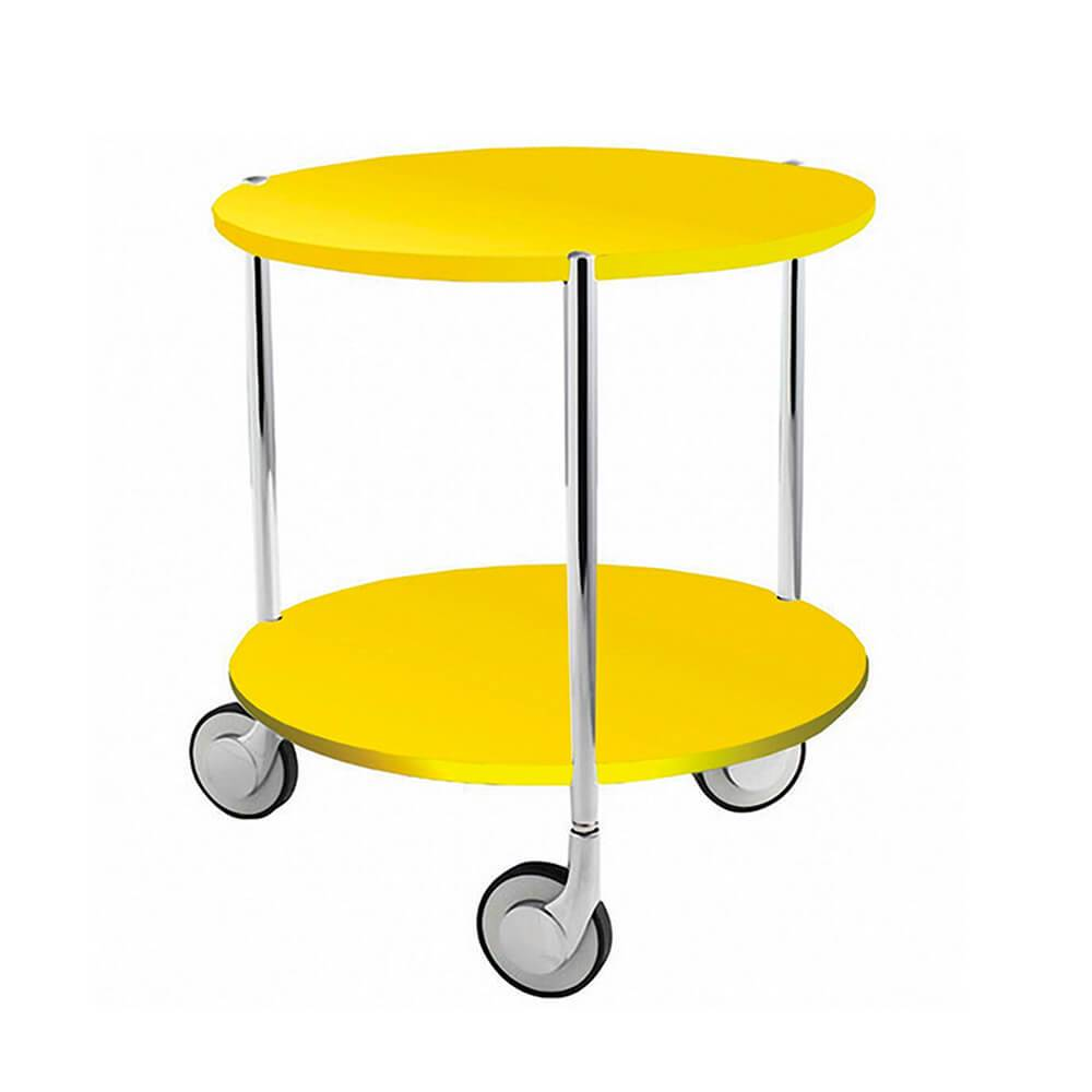 Mesa Auxiliar Table Under Table Amarela em Metal - Urban - 43,5x40 cm