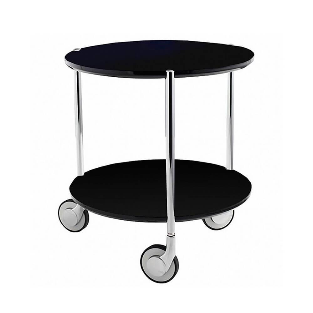 Mesa Auxiliar Table Under Table Preta em Metal - Urban - 43,5x40 cm