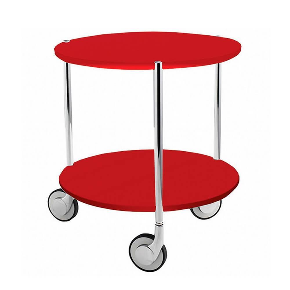 Mesa Auxiliar Table Under Table Vermelha em Metal - Urban - 43,5x40 cm