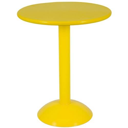 Mesa Bistrô Metalic Yellow Fullway - 73x60 cm