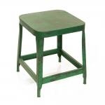 Mesa Lateral Retrô Verde Pátina Quadrada em Ferro - 50x40 cm