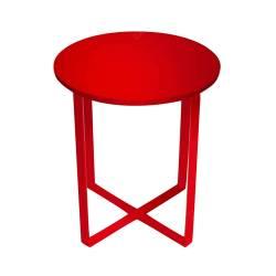 Mesa Lateral X Feet Vermelha em Metal - Urban - 43,5x40 cm