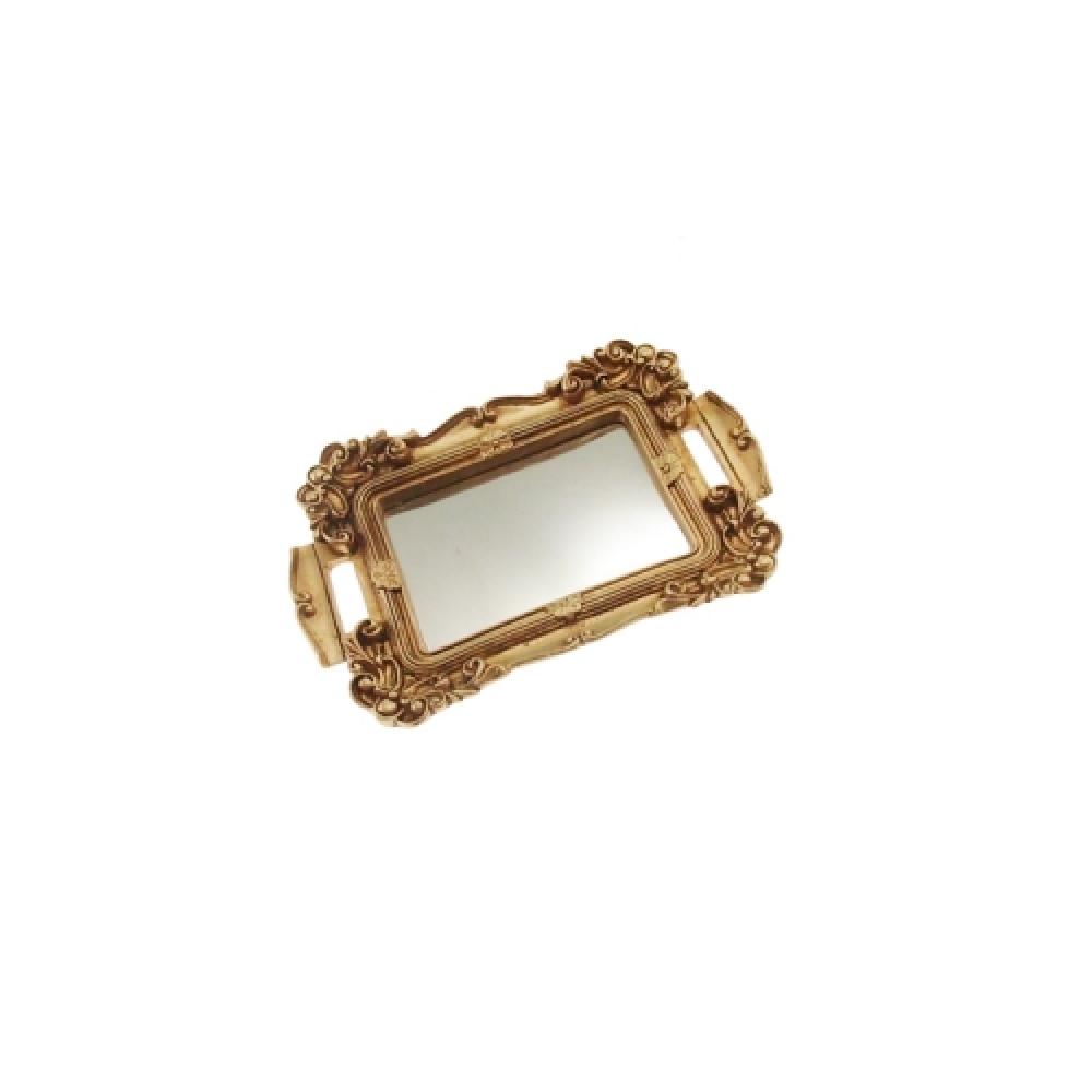 Mini bandeja dourada