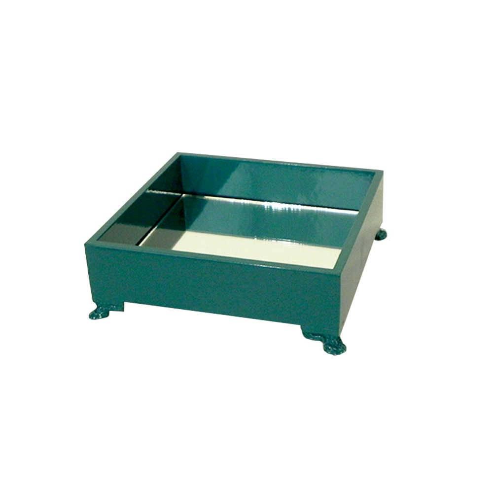 Mini Bandeja Organizadora Espelhada Turquesa em Madeira Laqueada - 15x15 cm