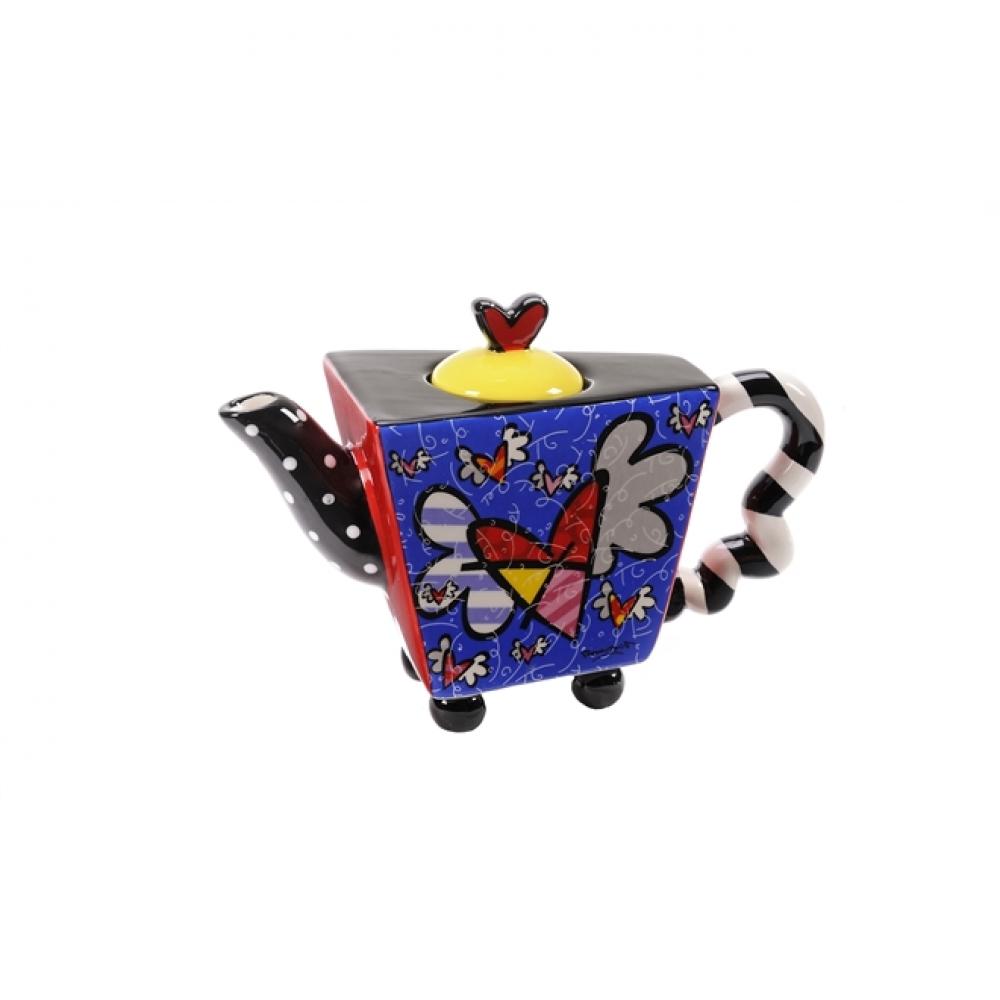 Mini Bule Flying Heart Romero Britto - Cerâmica - 10cm x 15cm x 7cm