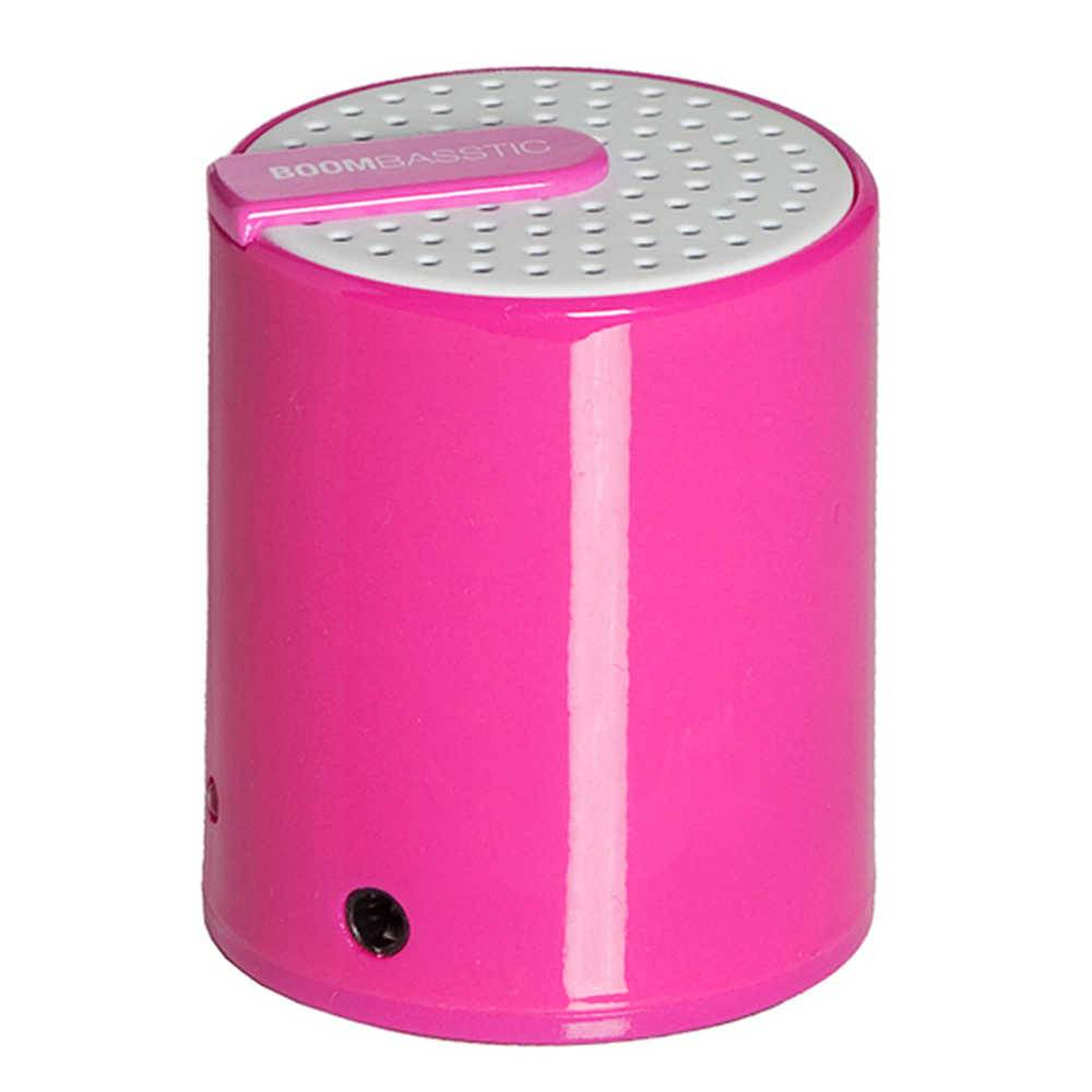 Mini Caixa de Som Boombastic Rainbow Rosa - Urban - 9,5x6 cm