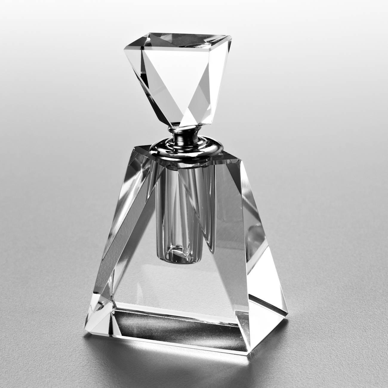 Perfumeiro Mini Lan Transparente em Vidro Óptico - Prestige - 10x6 cm