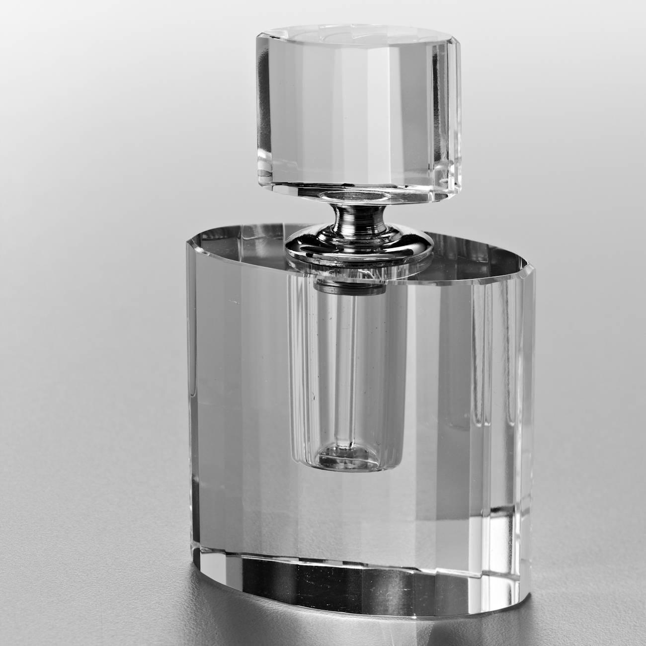 Perfumeiro Mini Lou Transparente em Vidro Óptico - Prestige - 10x6 cm
