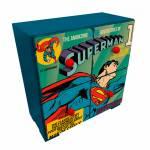 Mini Gaveteiro DC Comics Superman Flying Azul em Madeira com 4 Gavetas - Urban - 27x26 cm
