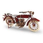 Mini Moto Vermelha Indian Pneu Branco Oldway