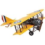 Miniatura Avião Amarelo Grande Oldway - Metal - 60x56cm