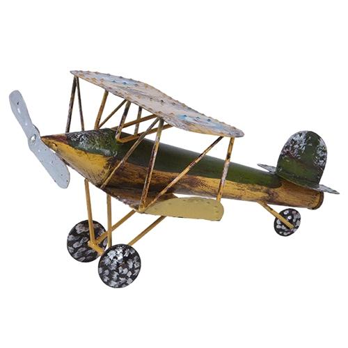 Miniatura de Avião Antique I em Metal - 22x15 cm