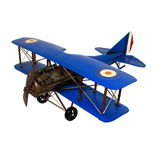 Miniatura Avião Azul Grande Oldway - 22x60 cm