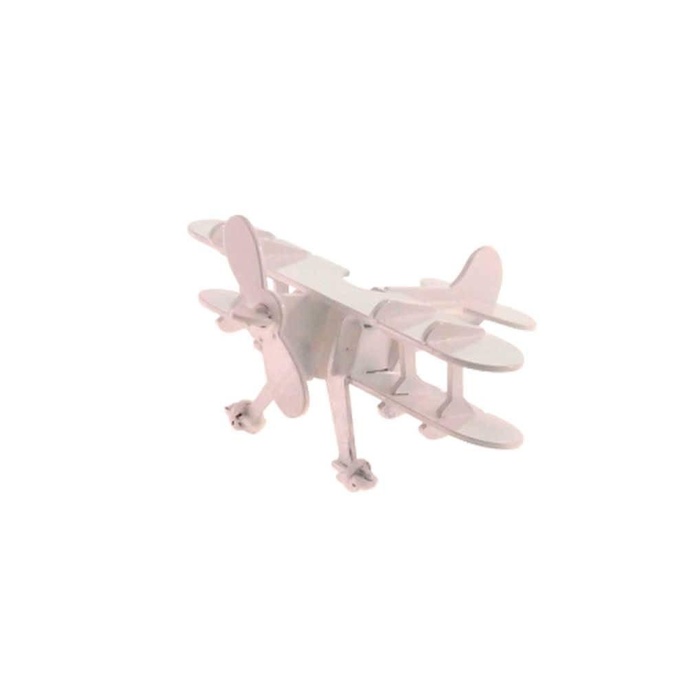 Miniatura de Avião Branco em Metal - 16x16 cm