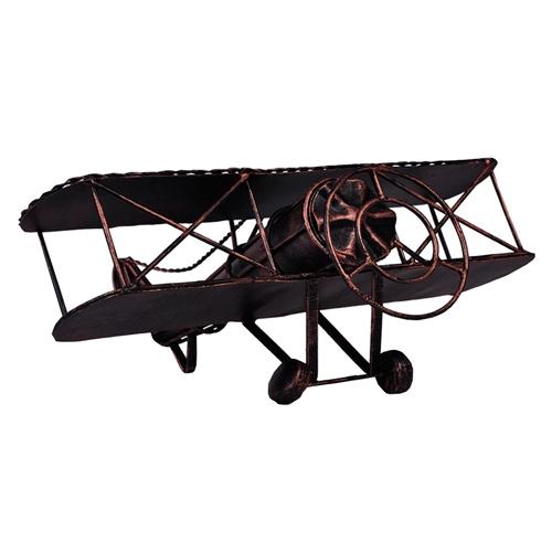 Miniatura de Avião Bronze em Metal - 28x26 cm