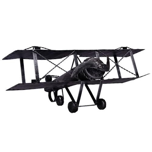 Miniatura de Avião Classic em Metal - 30x24 cm