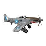 Miniatura Avião de Guerra Cinza Grande em Metal Oldway - 116x103 cm