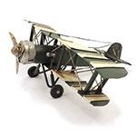 Miniatura de Avião Verde / Branco