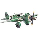 Miniatura Avião Verde c/ Listras Oldway