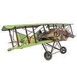 Miniatura de Avião Verde Metal Grande Oldway - 22x60 cm
