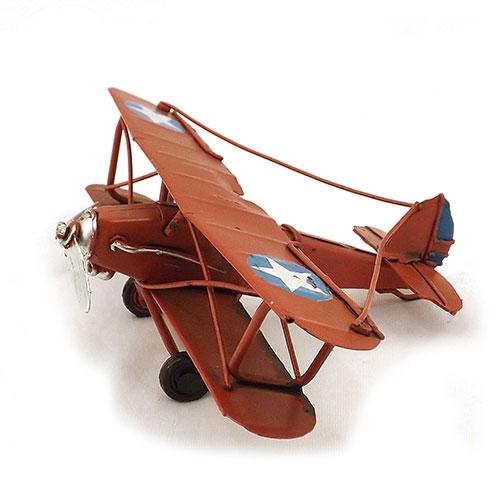 Miniatura de Avião Vermelho - Em Metal - 17x10 cm