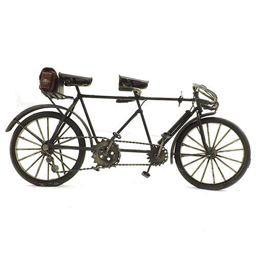Miniatura de Bicicleta Dupla Oldway - Em Metal - 37 x17 cm