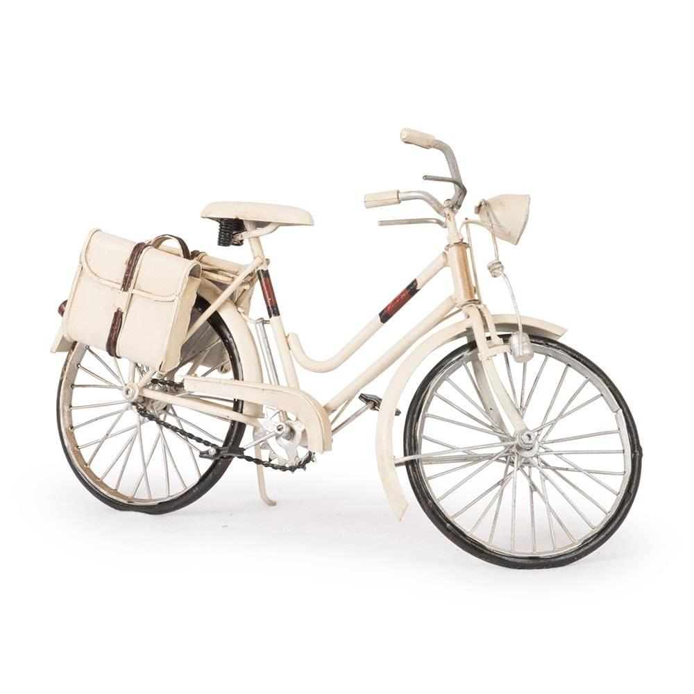 Miniatura Bicicleta Gucci Bike Branca em Ferro - 30x18 cm