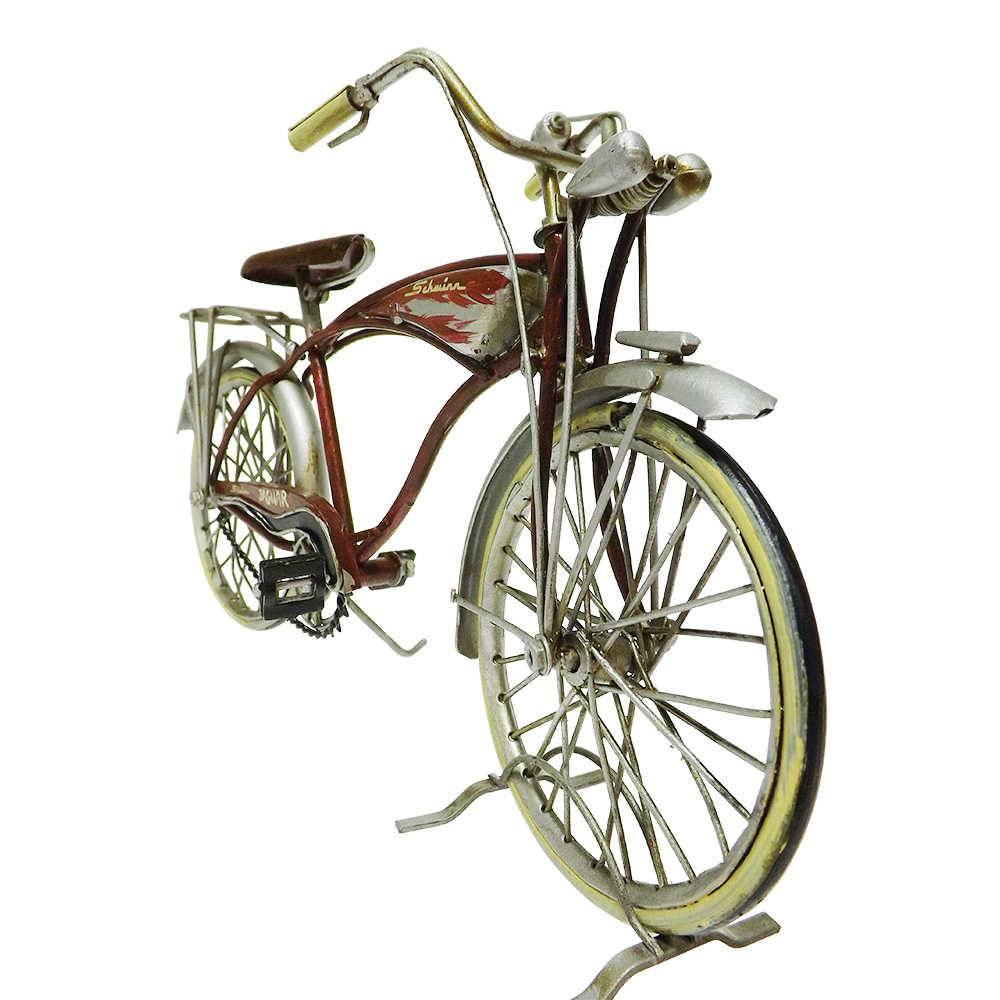 Miniatura Bicicleta Jaguar Modelo BY 1959 The Mark IV Jaguar Become America em Ferro - 29x17 cm