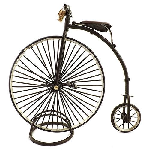Miniatura de Bicicleta Oldway Anos 1870 - Em Metal - 22x21cm