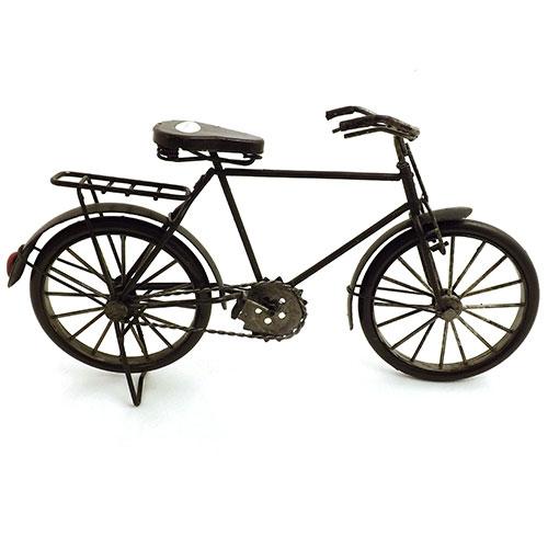 Miniatura de Bicicleta Preta Grande - Em Metal - 31x17 cm
