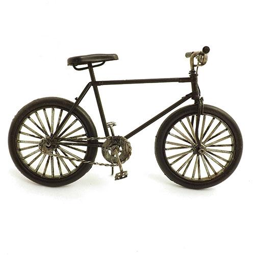 Miniatura de Bicicleta Preta Pequena - Em Metal - 20x12 cm