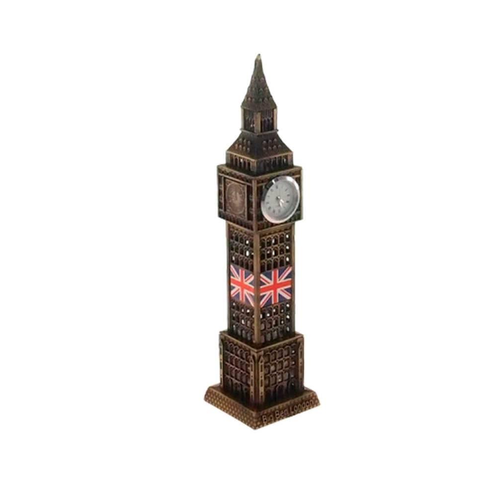 Miniatura Big Ben Bronze Envelhecido em Metal - 18x4 cm