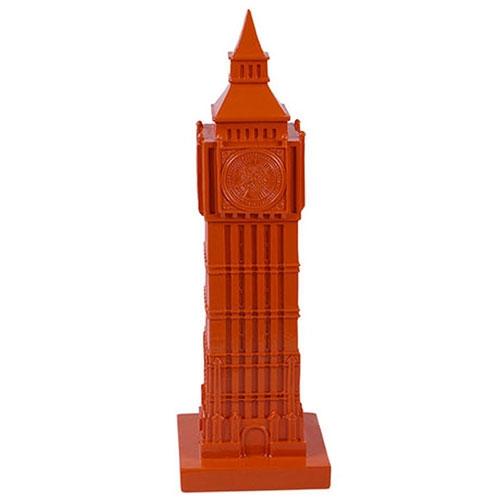 Miniatura Big Ben Laranja em Resina - 31x6 cm