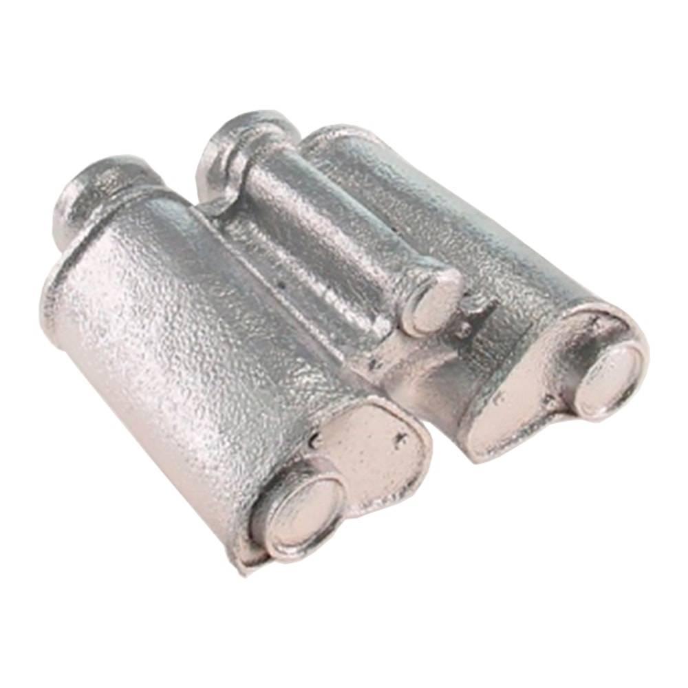 Miniatura Binóculo Retrô Prata em Resina - 18x8 cm