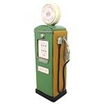 Miniatura de Bomba de Gasolina Porta Objetos Verde Oldway - Em Metal - 25x62 cm