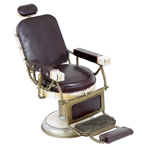 Miniatura Cadeira de Barbeiro Grande Oldway - Metal - 33x31cm