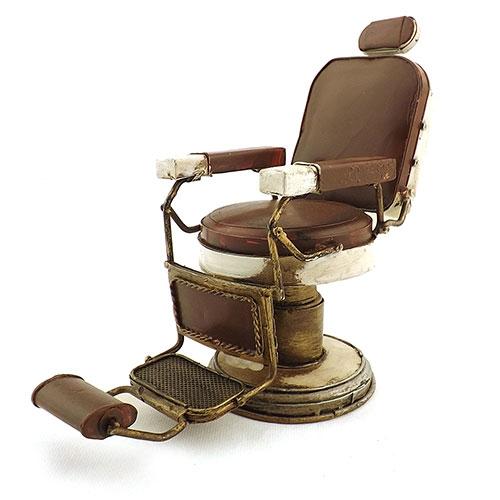 Miniatura Cadeira de Barbeiro Oldway - Metal - 23x12cm