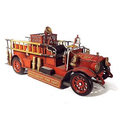 Miniatura Caminhão Bombeiro 1923 Maxim Grande Oldway em Metal - 37x16cm