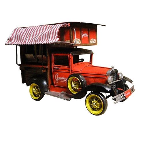 Miniatura Caminhão Ford Pipoqueiro Gourmet 1929 Grande Oldway - Metal - 23x35 cm