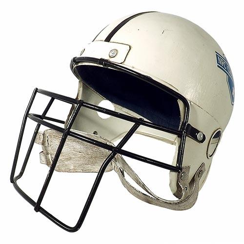 Miniatura de Capacete Decorativo Futebol Americano Oldway - Em Metal - 22x33 cm
