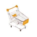 Miniatura Carrinho de Supermercado Amarelo