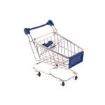 Miniatura Carrinho de Supermercado Azul